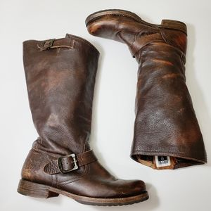 Frye Veronica Slouchy Wide Calf Leather Boots